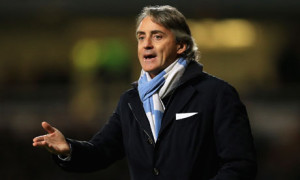 Manchester City boss Roberto Mancini is looking for his side to make up ground on Manchester United