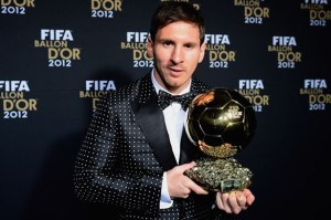 Lionel Messi collects fourth Ballon d'Or
