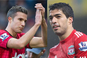 Robin Van Persie and Luis Suarez go head to head on Sunday