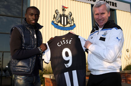 Papiss Cisse scored Newcastle's first goal in his teams 2-1 victory at Aston Villa