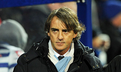 Manchester City boss Roberto Mancini is under-pressure