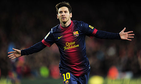 Barcelona star Lionel Messi will be hoping to progress into the quarter-finals of the Champions League