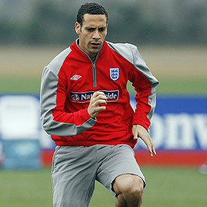 Ferdinand is back for the England national soccer team