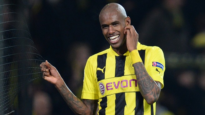 Felipe Santana scored the winner in Dortmund's 3-2 victory over Malaga in the Champions League