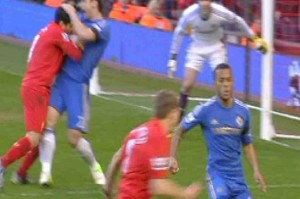 Luis Suarez will face a hard suspension with ten games by biting Ivanovic