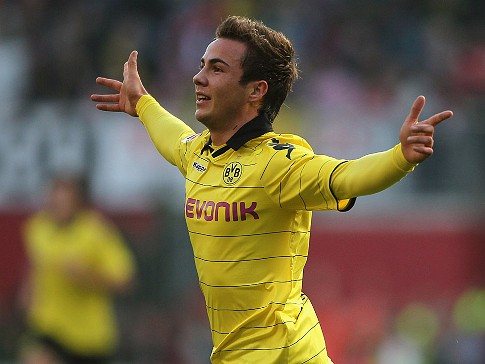 Mario Gotze missed a glut of chances in Dortmund's 0-0 draw with Malaga