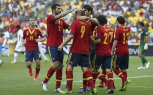 Spain against Tahiti